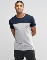Lindbergh T-Shirt With Color Block In Gray