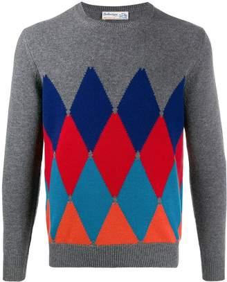 Ballantyne cashmere argyle knit jumper