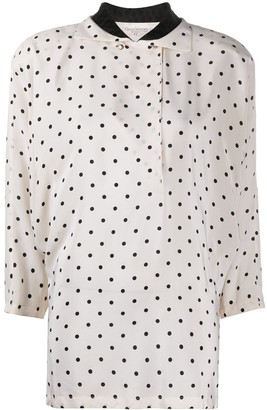 Versace Pre-Owned Three-Quarter Sleeves Polka Dot Blouse