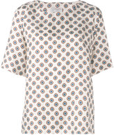 Alberto Biani geometric print top - women - Silk - 44