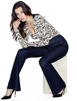 GUESS Petite High-Rise Push-Up Bella Bell Jeans in Silicone Rinse