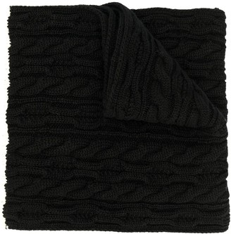 Saint Laurent Oversized Cable Knit Scarf