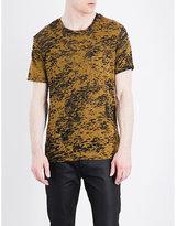 The Kooples Devoré Cotton-blend T-shirt