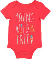 Baby Starters Coral 'Young, Wild & Free' Bodysuit - Infant