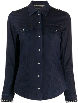 Patrizia Pepe Studded Denim Shirt