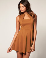 Asos Fit and Flare Dress with Square Neck