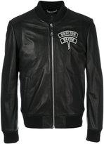 Philipp Plein embellished skull bomber jacket - men - Calf Leather/Polyester/Acetate - M