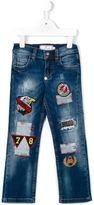 Philipp Plein patchwork jeans
