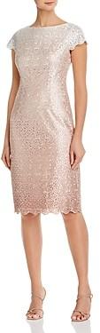 Eliza J Glitter Lace Sheath Cocktail Dress