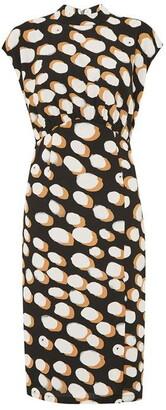 Great Plains Margot Spot Sleeveless High Neck Dress
