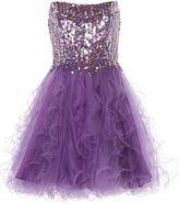 House of Fraser ANOUSHKA G Cara short embellished prom dress
