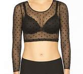 Spanx Sheer Fashion Long Sleeve Crop Top