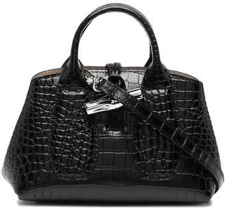Longchamp Crocodile-Effect Leather Tote