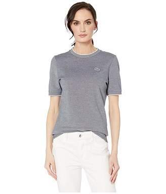 Lacoste Short Sleeve Caviar Pique Crew Neck T-Shirt