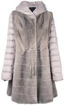 Liska - mink fur hooded puffer coat - women - Mink Fur/Polyester/Feather Down - M