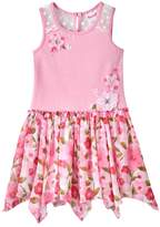 Nannette Toddler Girl Print Hanky-Hem Dress