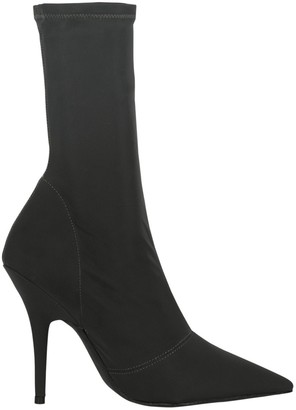 Yeezy Black Leather Ankle boots