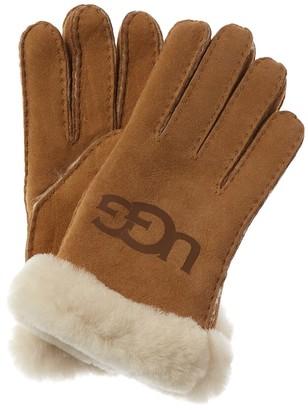 UGG Logo Suede Gloves