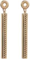 Cole Haan 12K Gold Plated Basket Textured Linear Drop Earrings