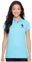 U.S. Polo Assn. Dot Print Pique Polo Shirt