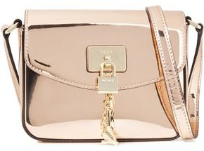 DKNY Embellished Faux Mirrored-leather Shoulder Bag