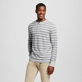 Merona Men's Striped Long Sleeve Henley