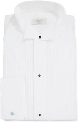 Eton Men's Classic Fit Pleated-Bib Stud Tuxedo Shirt