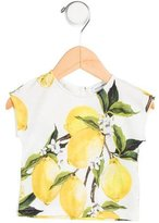 Dolce & Gabbana Girls' Knit Lemon Print Top