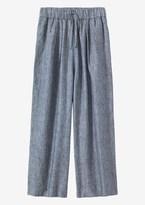 Toast Fine Stripe Linen Japanese Trouser