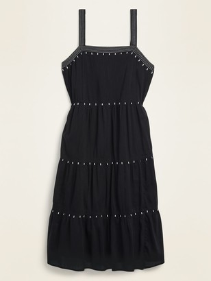 Old Navy Emboidered Tiered Plus-Size Midi Swing Dress