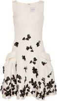 Carolina Herrera Floral Beaded Dress