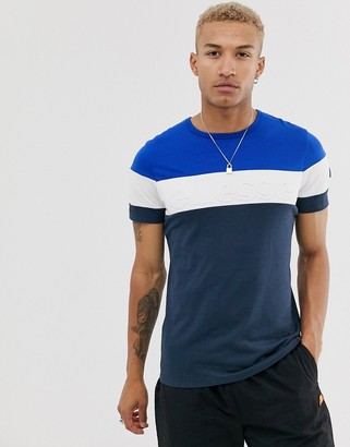 Ellesse Timavo t-shirt with embossed logo in navy