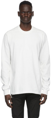 Rick Owens White Cotton Jersey Sweatshirt