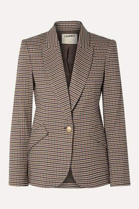L'Agence Chamberlain Houndstooth Tweed Blazer - Brown