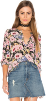 Rebecca Taylor Long Sleeve Lavinia Rose Top