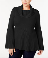 Style&Co. Style & Co. Plus Size Cowl-Neck Bell-Sleeve Sweater, Only at Macy's