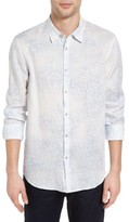 John Varvatos Men's Mayfield Slim Fit Print Linen Sport Shirt