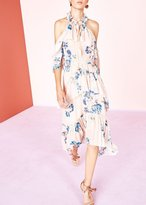Ulla Johnson Valentine Floral Print Silk Dress Nude