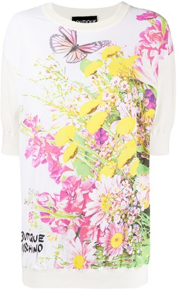 Boutique Moschino short sleeve butterfly print T-shirt