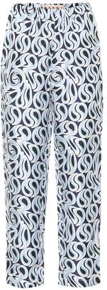 Marni High-rise straight silk pants