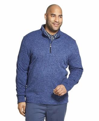 Van Heusen Men's Big & Tall Big and Tall Flex Long Sleeve 1/4 Zip Soft Sweater Fleece