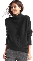 Gap Plait cable knit mockneck sweater
