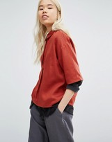 NATIVE YOUTH Oversized Shirt With Half Placket