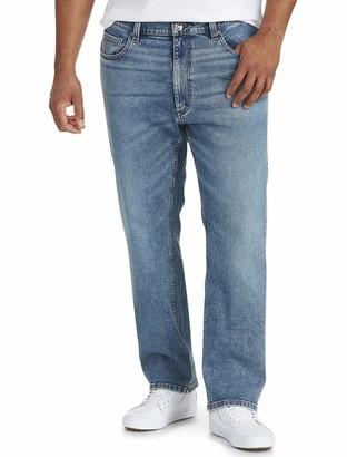 Amazon Essentials Men's Big & Tall Straight-Fit Stretch Jean fit by DXL