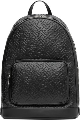 Burberry Rocco Monogram Embossed Leather Backpack