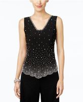 MSK Sleeveless Embellished Blouse