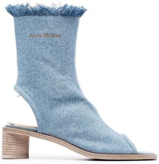Acne Studios Denim Mid-Calf Sandals