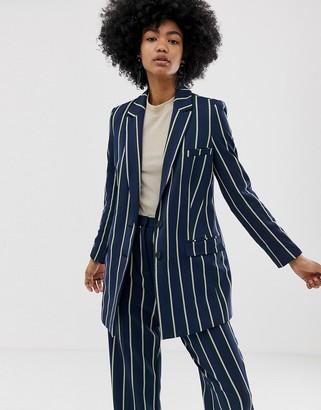 Asos Design DESIGN regatta stripe suit blazer-Multi