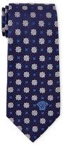 Versace lue Patterned Textured Silk Tie