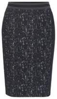 HUGO BOSS Patterned Plisse Pencil Skirt Veleara 8 Patterned